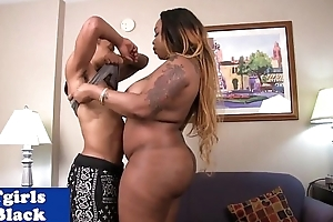 BBW malignant shemale doggystyled buttfucked