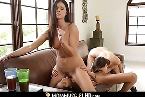 Mom Joins Daughter And Best Friend