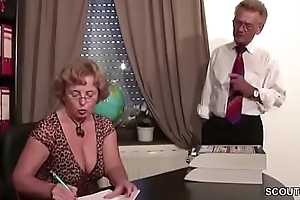 German Old Clasp forth First Time Porn Casting Roleplay