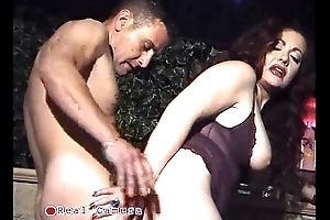 Jet-black Jessica fucked in a interdiction by the bartender