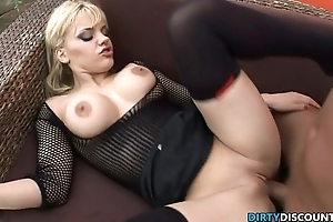 Fisted blonde swallows