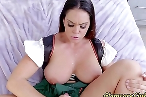 Bigtit pornstar pounded in CFNM show