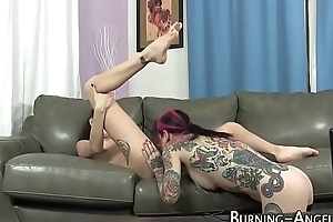 Goth sluts sucking cock