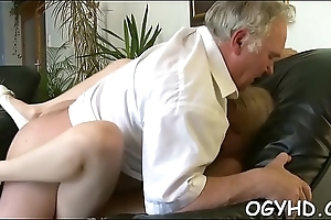 Juvenile babe licks with the addition of rides old rod