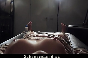Submissive girlfriend tied and punished everywhere bdsm paddle