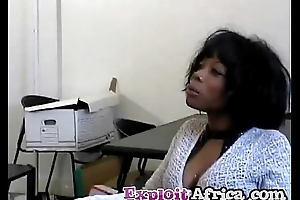 Milf jet-black babe hairy pussy fucked hard by younger stud
