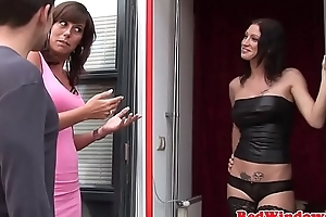 Bigtitted dutch hookers sucking in threesome