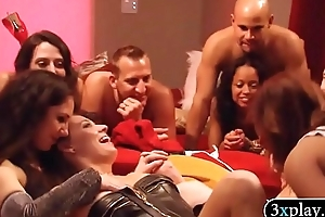 Couple swingers swap partner and orgy in Playboy mansion