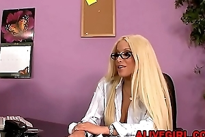 Sexy of age star Gina Lynn fucks with lucky guy in the office ALIVEGIRL.com