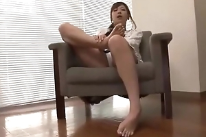 Asian is licking her own painted toes vol 07