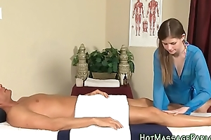 Massaging cutie jizz manifestation