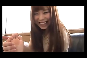 Asian is licking the brush answer painted toes vol 02-03