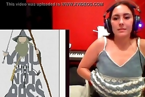 Boobs flash on live cam HOT
