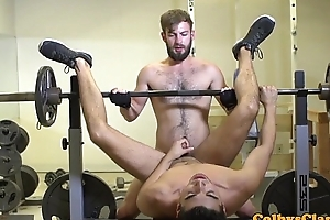 Throated gym especially bettor assfucked while jerking off
