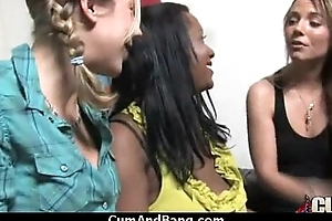 Black chick gets gangbanged by a group of white guys 1
