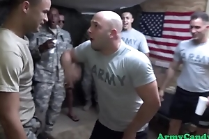Amateur military party goes gay orgy
