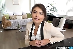 Hot realtor Adria Rae is flannel riding machine