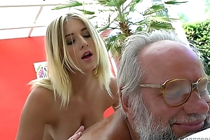Aria Logan and her much older join up - Grandpas Fuck Teens