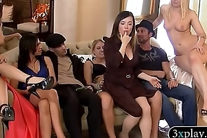 Bunch of singles make out and foursome apropos Coquette mansion