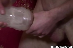 Robust solo brit fucking a fleshlight