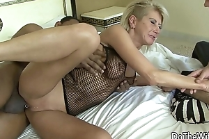 Blonde wife black load of shit in asshole