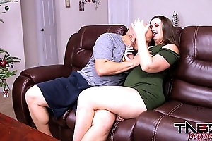 Big Bore MILF Madisin Lee Bonking Young Flannel &amp_ Creampie for Christmas