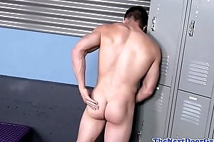 Athletic athlete tugging his load of shit at the gym