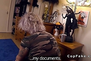 Fake cop anal pounds be in charge blonde convenient her home