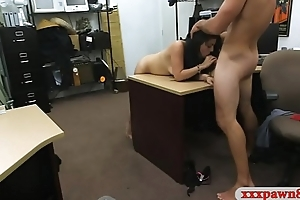 Cuban chick pawns her pussy and slammed by pawn keeper