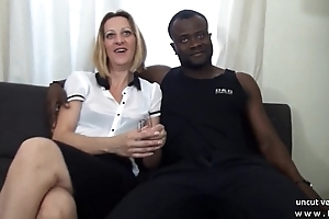 Casting couch french mature ma hard DP by white and black dicks
