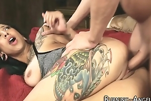 Kinky tatted slut fucked