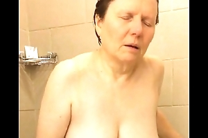 60 Big Tits Materfamilias Shower Masturbation - FREE @ www.WebCummers.com