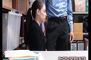 Incongruous Shoplifting Amateure Backroom Spy-Cam Sex